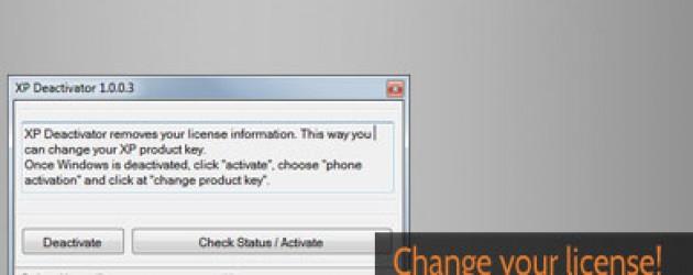Windows XP Deactivator