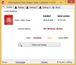 Alternative Flash Player Auto-Updater 1.1.0.6