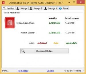 Alternative Flash Player Auto-Updater 1.1.0.7