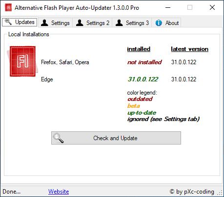 Alternative Flash Player Auto-Updater 1 3 0 0 » pXc-coding